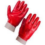 1 pair of Red PVC Dip Gloves (Sizes S - XL)